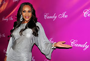Vivica showed off her diamond earrings while hitting the red carpet at the Candy Ice launch.