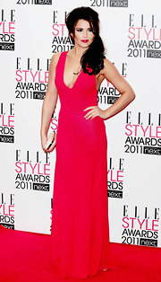 Cheryl was on fire in a hot red evening gown at the Elle Style Awards.