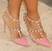 Hannah Bronfman added some funky edge to her look with these studded heels.