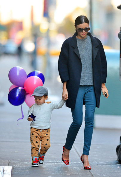 Miranda Kerr and Son Flynn in New York