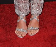 Now this is what we call fierce footwear! Jessica Biel's sandals were dripping in diamonds at the 'Hitchcock' premiere.