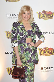 Pixie Lott was playful at a London premiere in this radish print ensemble.