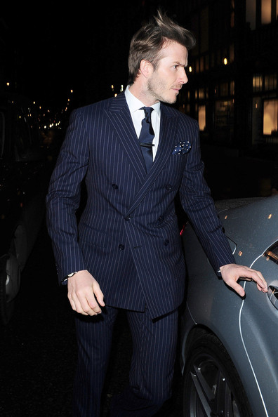 More Pics of David Beckham Men's Suit (5 of 9) - David Beckham Lookbook - StyleBistro