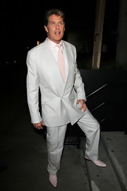 No one, I mean no one, Hassels the Hoff when he's in his pink wingtip oxfords.