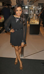 Dionne Bromfield wowed the crowd in her little black dress at 'A Night with Nick Ede.'
