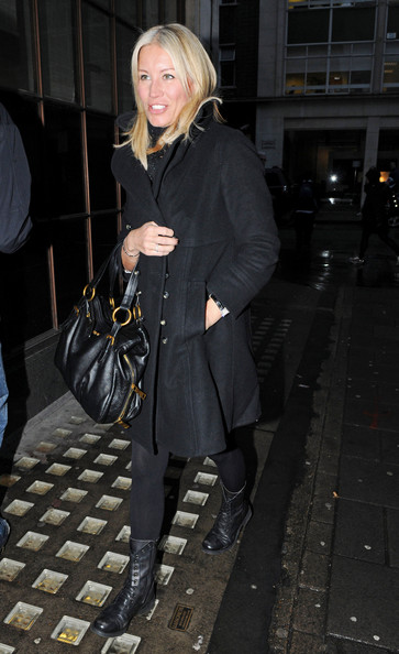 Denise van Outen Leather Shoulder Bag