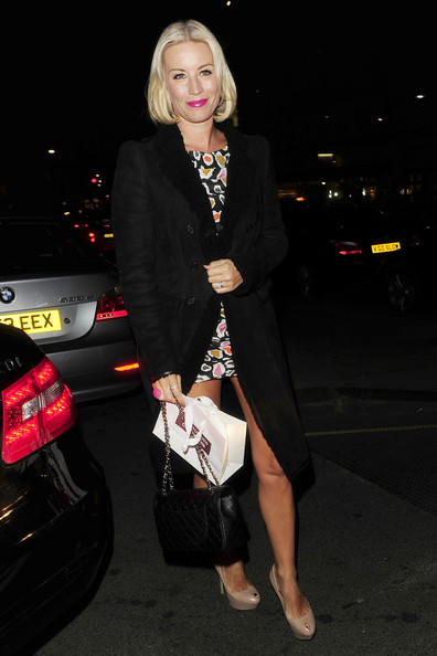 Denise van Outen Quilted Leather Bag