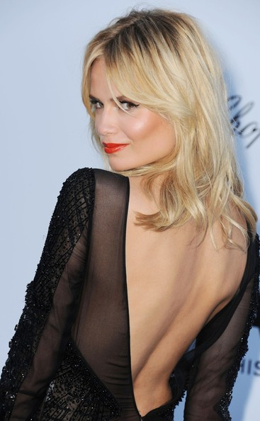 More Pics of Natasha Poly Long Wavy Cut with Bangs (1 of 3) - Natasha Poly Lookbook - StyleBistro