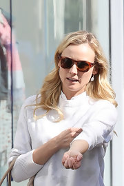Diane Kruger sported a retro-style of Wayfarers while out shopping in LA.