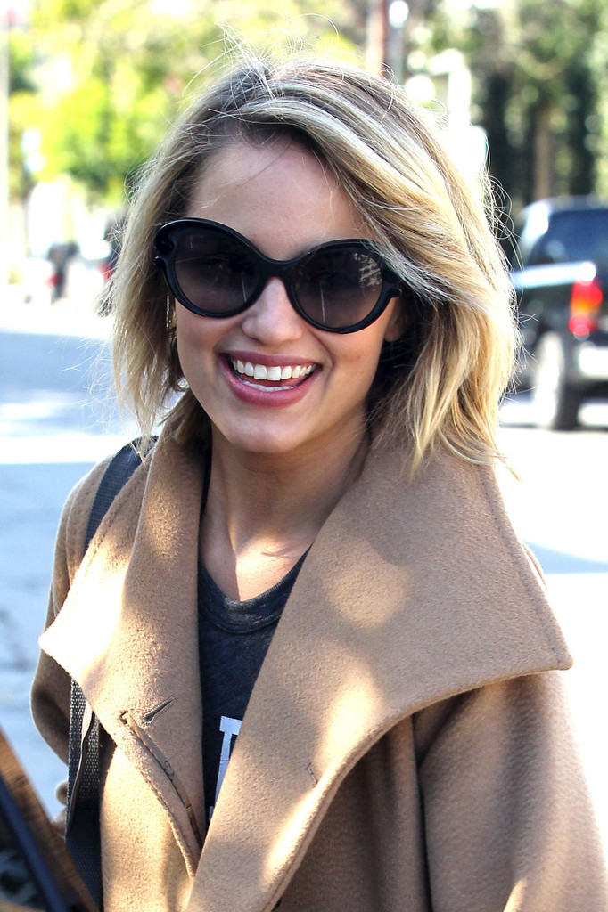 Dianna Agron Shoulder Length Hair