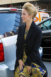 Dianna Agron promoted the fourth season of 'Glee' while wearing a pair of Audrey diamond stud earrings.
