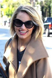 Dianna Agron's tresses  looked fabulous when she was spotted leaving the Kate Somerville Salon in West Hollywood.