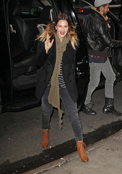 More Pics of Drew Barrymore Pea Coat (5 of 19) - Drew Barrymore Lookbook - StyleBistro