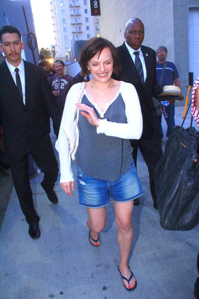 Elisabeth Moss Denim Shorts