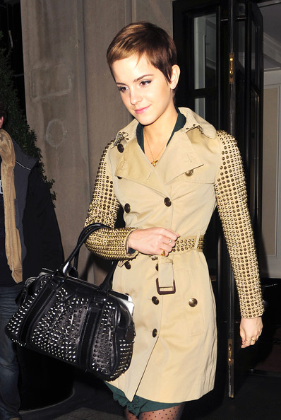 Emma Watson Studded Shoulder Bag