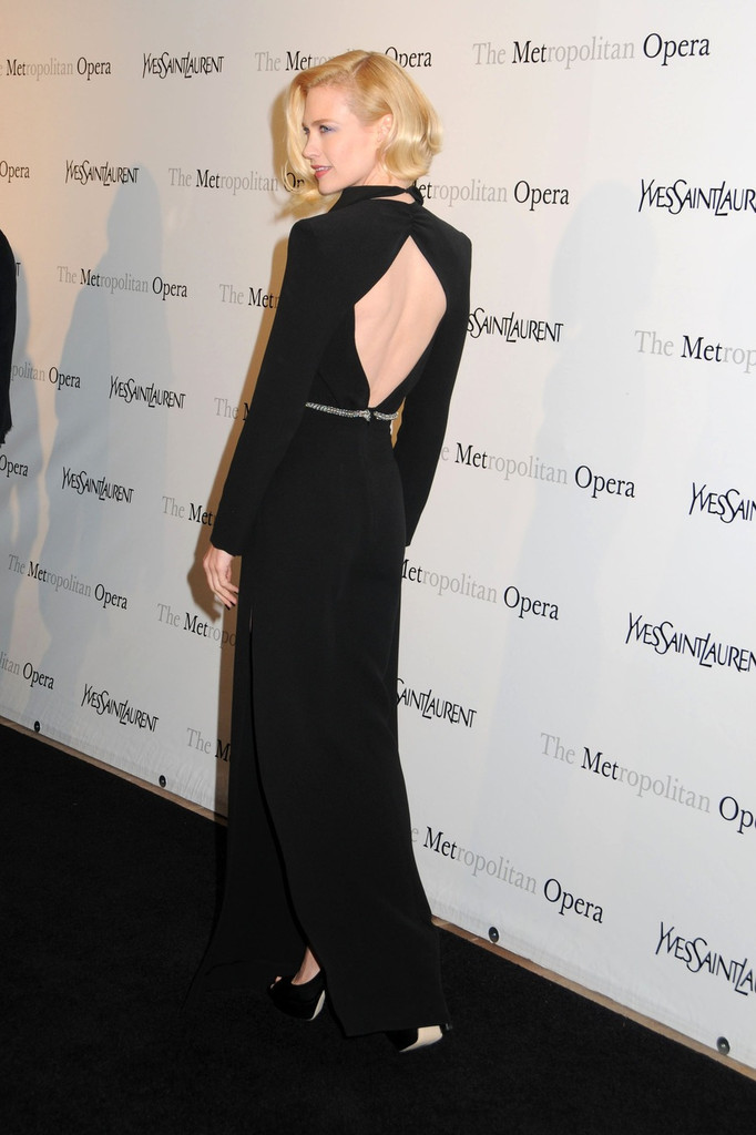 "January Jones at the Metropolitan Opera premiere of Jules Massenet&squot;s ""Manon"" in NYC."