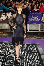 Bella Heathcote rocked a teasing lace dress at the London premiere of 'Dark Shadows.'