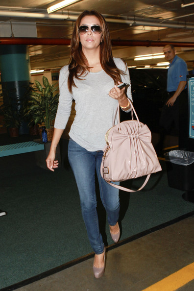 Eva Longoria Patent Leather Tote
