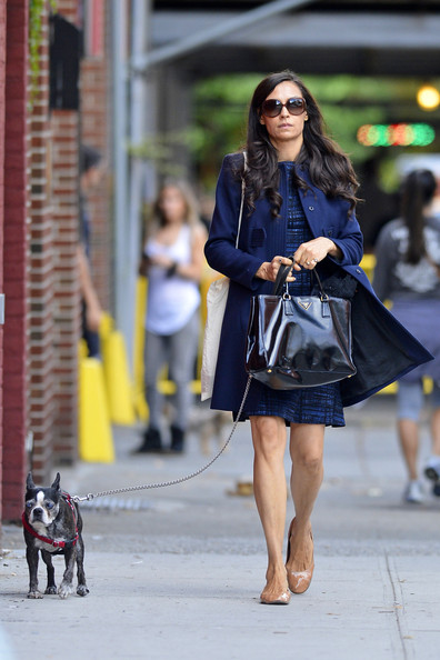 More Pics of Famke Janssen Wool Coat (1 of 5) - Famke Janssen Lookbook - StyleBistro