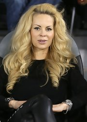 Helena's golden locks were full of volume and bounce at a soccer match in Doha.