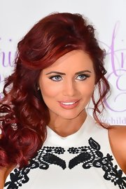 Amy Childs decorated her baby blues with a pair of false lashes.