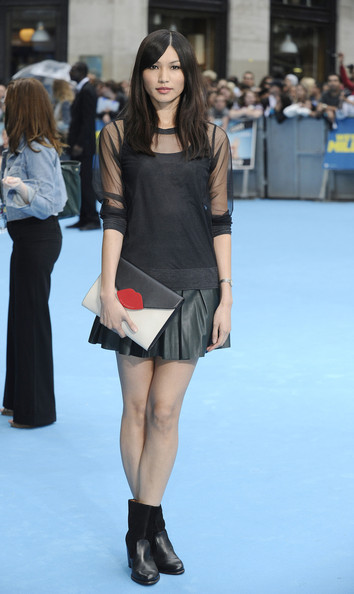 Gemma Chan Mini Skirt