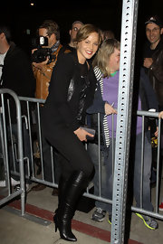 Abbie Cornish attended the 'Vanity Fair' Campaign Hollywood Kick off in fitted black leather knee high boots.