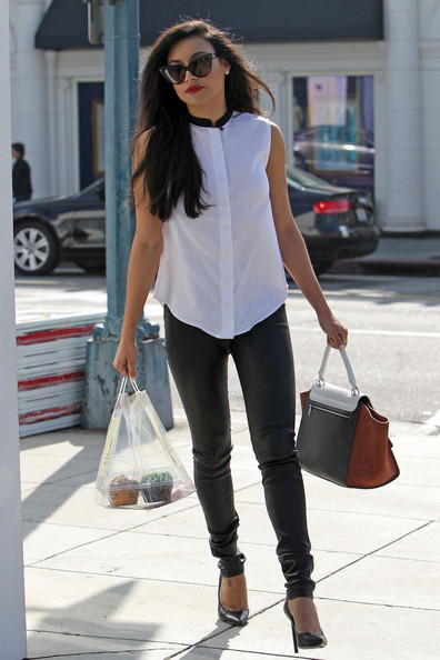 More Pics of Naya Rivera Button Down Shirt (3 of 19) - Tops Lookbook - StyleBistro