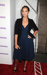 Christy shimmered at the Shine On Awards in a cropped black blazer.