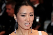 Gong Li Dangling Gemstone Earrings