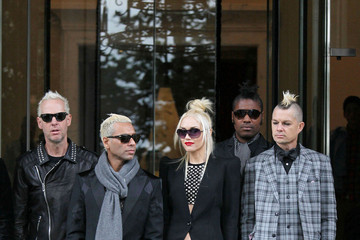 Gwen Stefani Adrian Young No Doubt Leaves Their Hotel in London