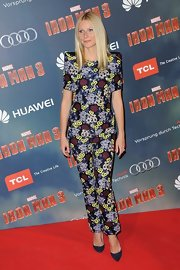 Gwyneth Paltrow rocked the matching floral look at the 'Iron Man 3' red carpet.