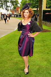 Suzi Perry wore an elegant draped dress as she attended the Royal Ascot Horse Races.