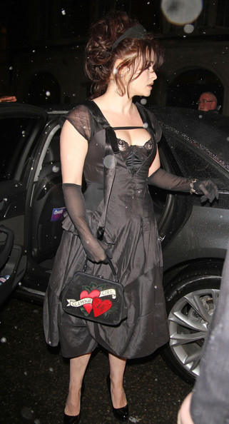 More Pics of Helena Bonham Carter Satin Purse (3 of 10) - Satin Purse Lookbook - StyleBistro