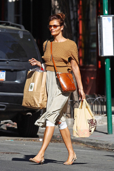 Helena Christensen Leather Shoulder Bag