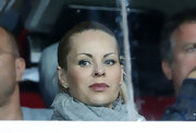 Helena Seger was elegantly coiffed in a Croydon facelift while watching a soccer game.