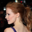 12. Jessica Chastain's Curly, Wrapped-Base Ponytail