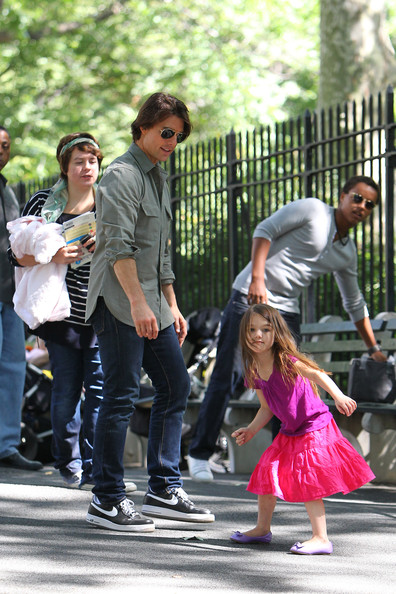Tom Cruise and Family in Central Park