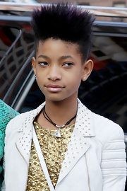 Willow chose a super spiky fauxhawk for her look at the Michael Kors runway show during Fashion Week.