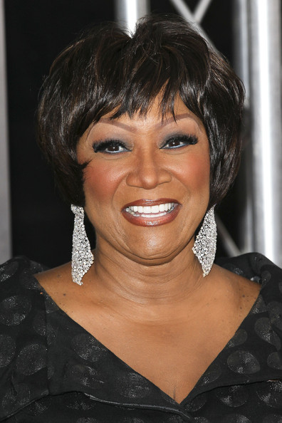 Patti LaBelle made a rare appearance at the premiere of 'For Colored Girls'. She topped of her short straight cut with dangling diamond earrings.