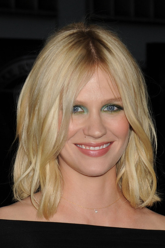 january jones hair stylebistro january jones medium straight cut january jones shoulder