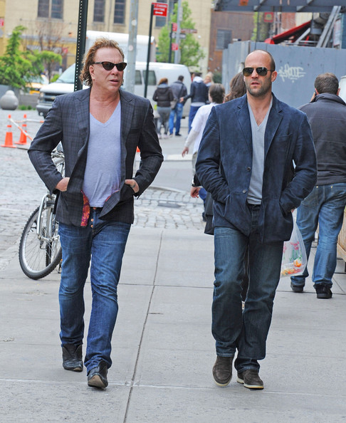 MIckey Rourke and Jason Statham in the East Village