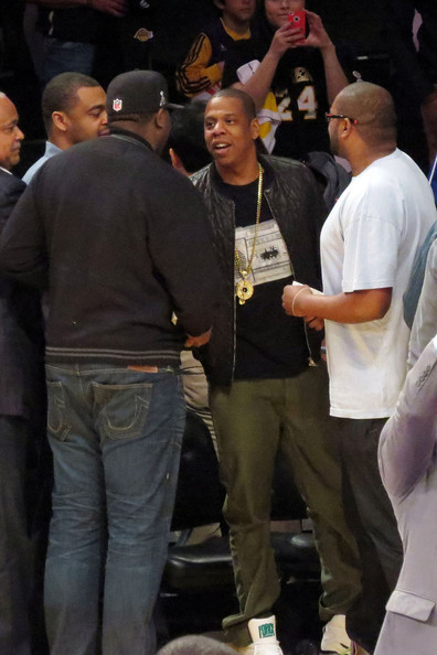 Celebs at the Laker's Game