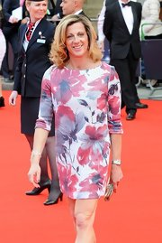 Sally Gunnell looked oh-so-lovely at the British Olympic Team gala in her floral frock.