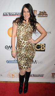 Jeannie Ortega wore a leopard print dress for the NYFW.
