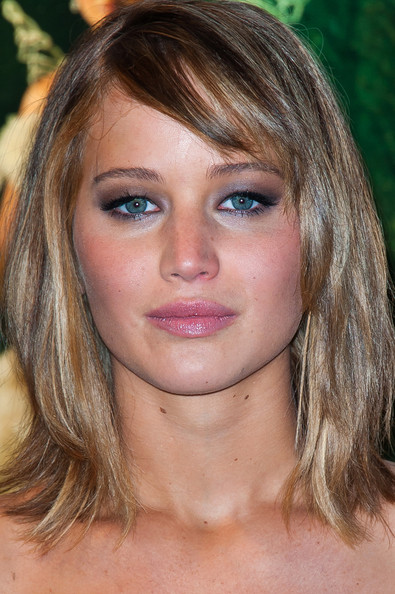 More Pics of Jennifer Lawrence Medium Straight Cut with ...