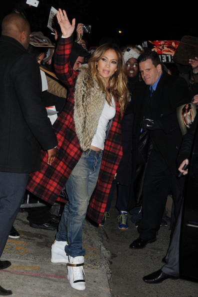 More Pics of Jennifer Lopez Leather Coat (1 of 8) - Jennifer Lopez Lookbook - StyleBistro