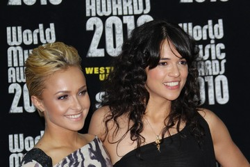 Hayden Panettiere Michelle Rodriguez The World Music Awards 2010 Red Carpet