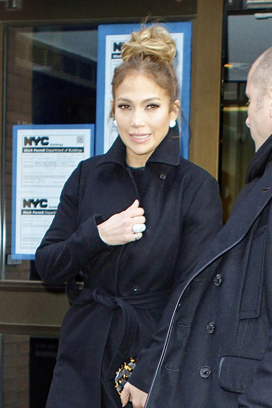 More Pics of Jennifer Lopez Wool Coat (4 of 15) - Wool Coat Lookbook - StyleBistro