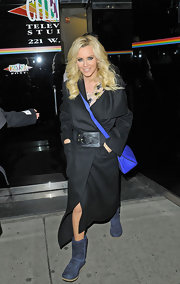 Jenny McCarthy's black wool coat was both practical and stylish for walking the streets of NYC.